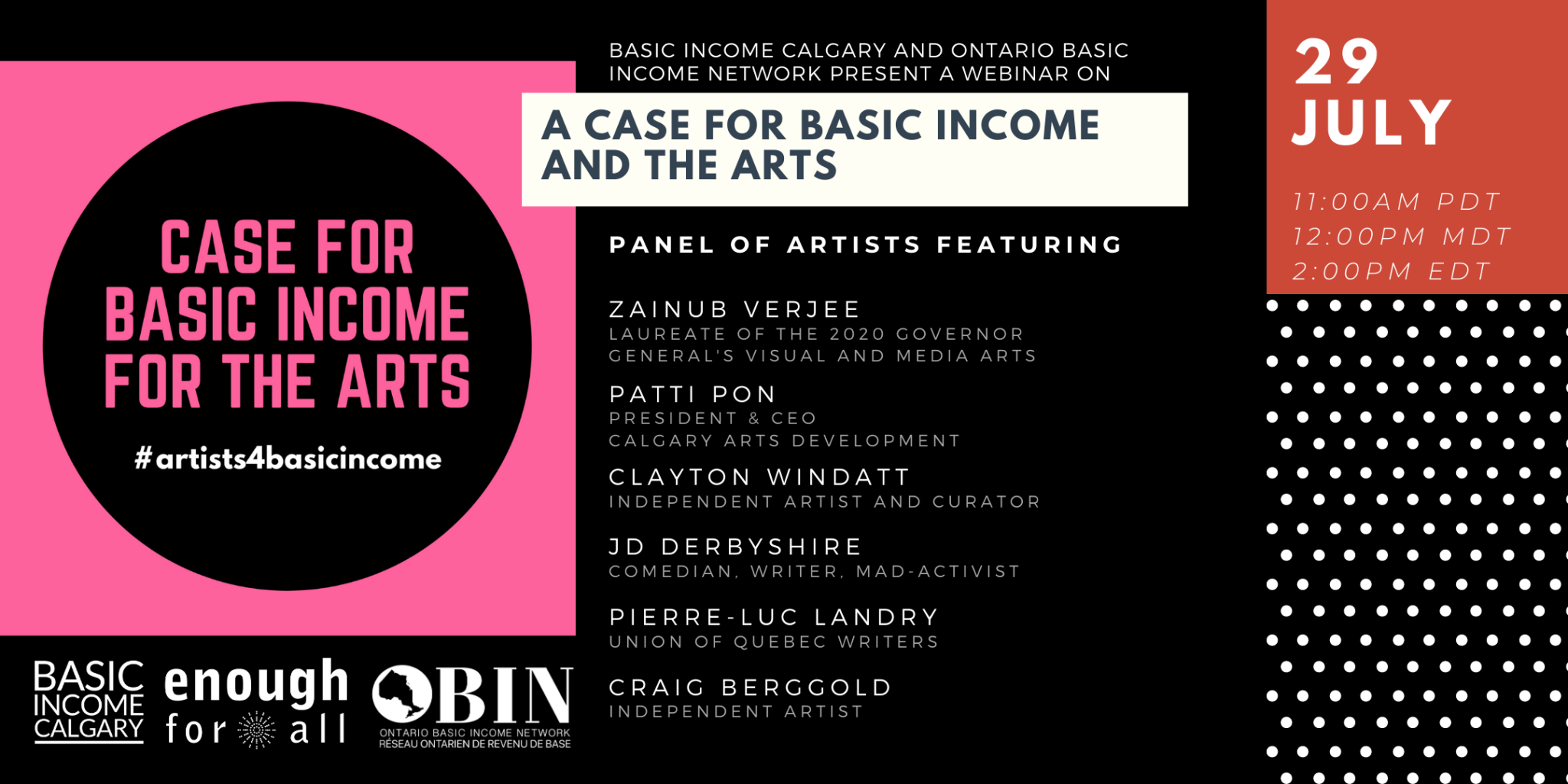 Case for Basic Income for the Arts