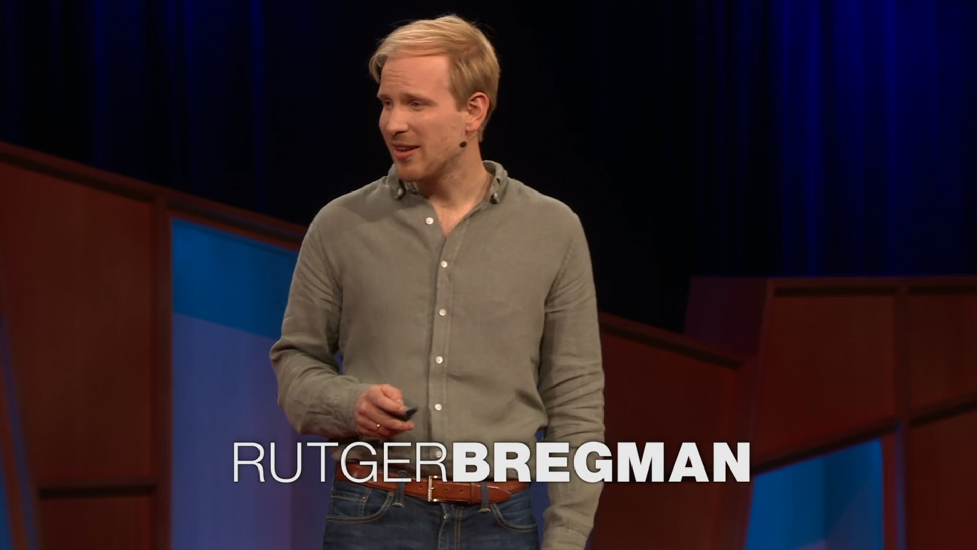 Rutger Bregman - Poverty Is A Lack Of Cash Not Character TED
